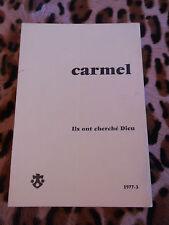 CARMEL 1977/3 - Ils ont cherché Dieu
