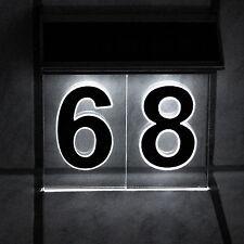 Solar Hausnummer LED 3-D Effekt Solarleuchte Hausnummerleuchte für 1-2 Ziffern