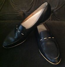 """1950's Woman's Vintage Loafer Creeper By """"Gems"""" Black Size 9 Retro Rockabilly"""