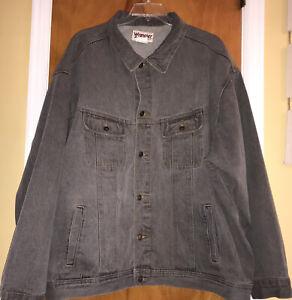 Wrangler Rugged Wear Gray Denim Jean Jacket Big Mens Size 5X Excellent XXXXXL