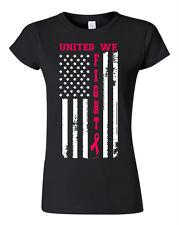 Breast Cancer awareness TShirt October PINK Ribbon survivor support Women Fight