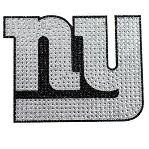 New York Giants Licensed Sparkle Bling Emblem Decal