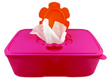 NEW TUPPERWARE TUPPERCARE PINK WIPES DISPENSER TISSUE BOX 1.5L