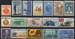 U.S. 1961 Commemorative Year Set 17 MNH Stamps
