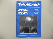 Instructions slide projector VOIGTLANDER VP200A VP200AF  CD/EMail