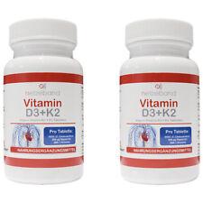 Vegan Vitamin D3 5000 IE Premium Qualität + K2 200µg Vitamine 360 Tabletten