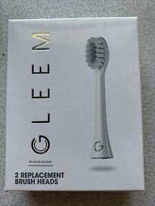 GLEEM Electric Toothbrush Heads, 2 Count, White