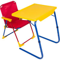 Table Mate 4 Kids Original Plastic Folding Table and Chair Set (Red/Blue/Yellow)