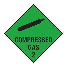 1x Compressed Gas Warning Danger Vinyl Sticker for Box Truck Bumper Store Work