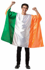 Flag Tunic Ireland White & Green Adult Costume Halloween Rasta Imposta