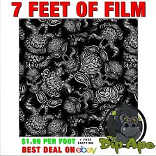 Hydrographic Film Skulls paisley bandanna 7 feet of film hydro Dip Ape