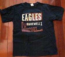 Vintage Eagles 2003 Farewell Tour T shirt Brown Size M 100% Cotton Vguc