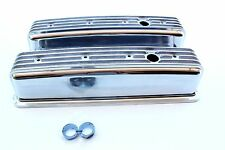 CHEV SMALL BLOCK VORTEC ENGINE NOSTALGIA TALL FINNED ALLOY ROCKER COVERS