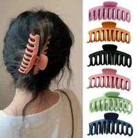 Women Large Hair Claw Hairpin Solid Acrylic Hairpin Clip Travel Hair Decor V2L9
