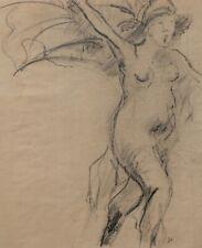 Théophile Alexandre STEINLEN dessin allégorie République femme nue tableau art