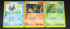 Mudkip, Torchic, Treecko 65, 77, 80/97 Ex Dragon Starter Pokemon Card NM