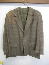 Christopher Dawes Tweed Blazer Sport Coat leather elbow & shooting shoulder 48L