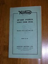NORTON SPARE PARTS LIST 1956 ES2 19S 50 TERESA WALLACH