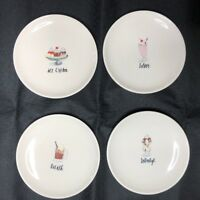 New Rae Dunn Set Of Four Dessert Plates Artisan Collection By Magenta 6.5""