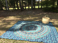 Indian Elephant Mandala Hippie Tapestry Wall Hanging Bedspread Queen Bohemian