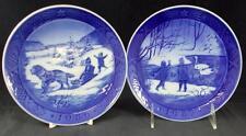Royal Copenhagen Annual Christmas Plate 2 Collector Plates 1986 & 1987 A+