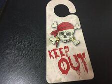 Children's Door Hanger Sign Skull Keep Out Pirate Treasure Green Board Game Co