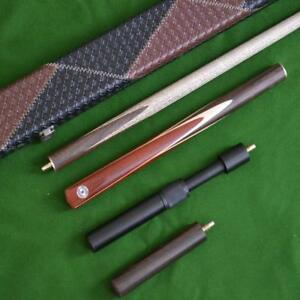 Handmade 3/4 Rengas Wood Butt Ash Shaft Snooker Cue set - Case and Extension