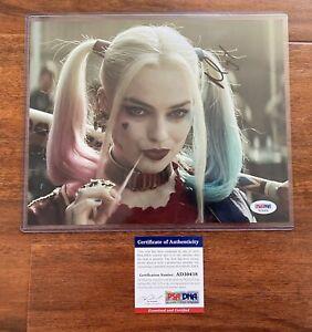 PSA Margot Robbie signed autographed Harley Quinn suicide squad 8x10 photo COA