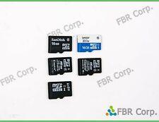 SanDisk Kingston Lexar  Lot 10 Micro SD 16GB MicroSD HC Flash Memory Card
