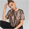 Womens Short Sleeve Shine Boxy T-Shirt - Wild Fable - Bronze - NWT