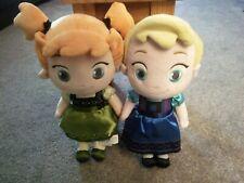 "Disney Store Animator Plush Toddler Frozen Elsa & Anna Soft Toy Dolls Set 12"""