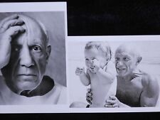 2 New Photo Postcards Pablo Picasso ARTIST France 1954 With Son 1948