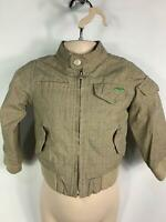 BOYS JUNIOR J BROWN CASUAL ZIP UP HARRINGTON JACKET COAT KIDS AGE 9/12 MONTHS