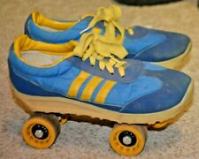 Vintage Nash Cruisers Adidas Roller Skates Blue Yellow Roller Derby women's Us 6