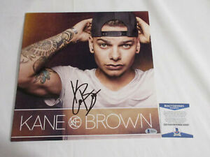 KANE BROWN SIGNED SELF TITLED VINYL LP RECORD BECKETT BAS COA H06687
