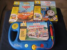 My First LeapPad LeapFrog Learning System Blue with 3 Books and 2 Cartridges