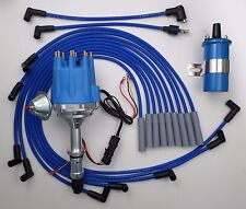 Small Cap BUICK BIG BLOCK 400 430 455 BLUE HEI Distributor + BLUE Coil + Wires