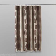 Essential Home Gossamer Leaf  Fabric Shower Curtain  / Liner
