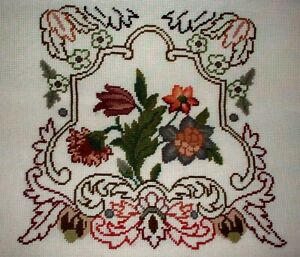 Pre Worked Needlepoint Canvas Floral Bell Pull Pillow Brick Chair Madeira U Pick