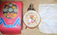 Rare VINTAGE YANTAR JANTAR ALARM CLOCK ANIMATED LEOPOLD USSR WORKING