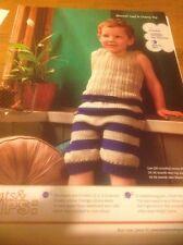 Bloomer Loaf & Cheesy Top - Kids Vest & Pants Knitting Pattern By Joeli Caparco