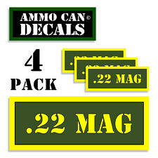 "22 MAG Ammo Can 4x Labels for Ammunition Case 3"" x 1.15"" sticker decal 4 pack AG"