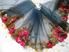"""1Yard~ 8""""~Embroidered Venise Lace Tulle Flower Dress Bridal Multi-color"""