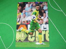 Ricky van Wolfswinkel Signed Norwich City FC 2013/14 Debut Photograph