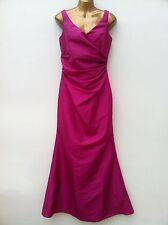 BHS WEDDING Long Bridesmaid Bridal Wedding Dress Size 10 Fuchsia Pink IMMACULATE