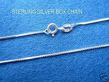 """925 STERLING SILVER BOX CHAIN .70 MM 16 18 20 22 24"""""""