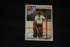 GILLES GILBERT 1978-79 TOPPS SIGNED AUTOGRAPHED CARD #95 BRUINS