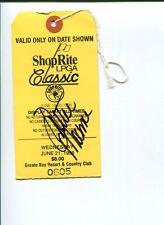 Dottie Mochrie Pepper Solheim Cup LPGA Golf Signed Autograph Wegmans Ticket