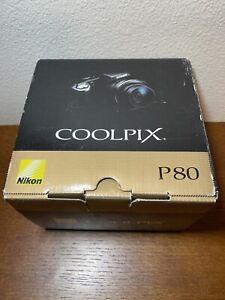 Nikon COOLPIX P80 10.1MP Digital Camera - Black. Tested & Works! No Lens Cover.