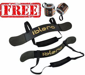 ISLERO Fitness Gewichtheben Arm Blaster Bizeps Isolator Stütze Gurt Tücher